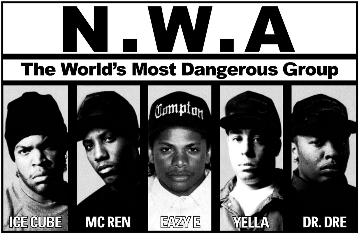 N.W.A. : Niggaz Wit Attitude, the world's most dangerous group
